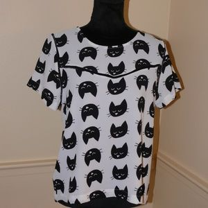 Lily White Tops - Lily White Kitten Top